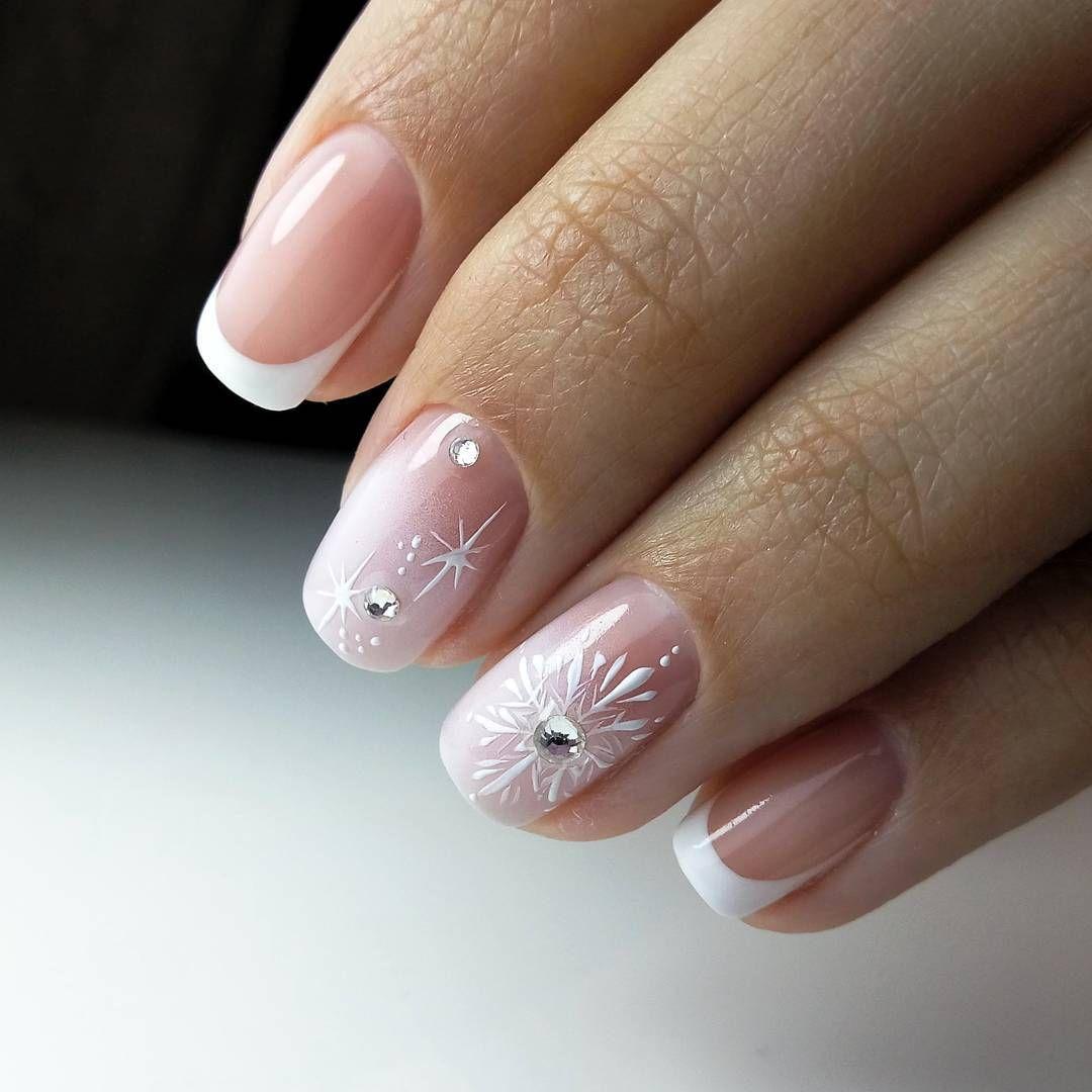 Короткие Ногти Дизайн Новинки 24 Френч — Дизайн Ногтей Фото
