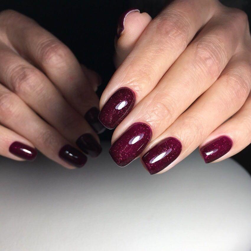 Ногти Шеллак Фото Осень 2019