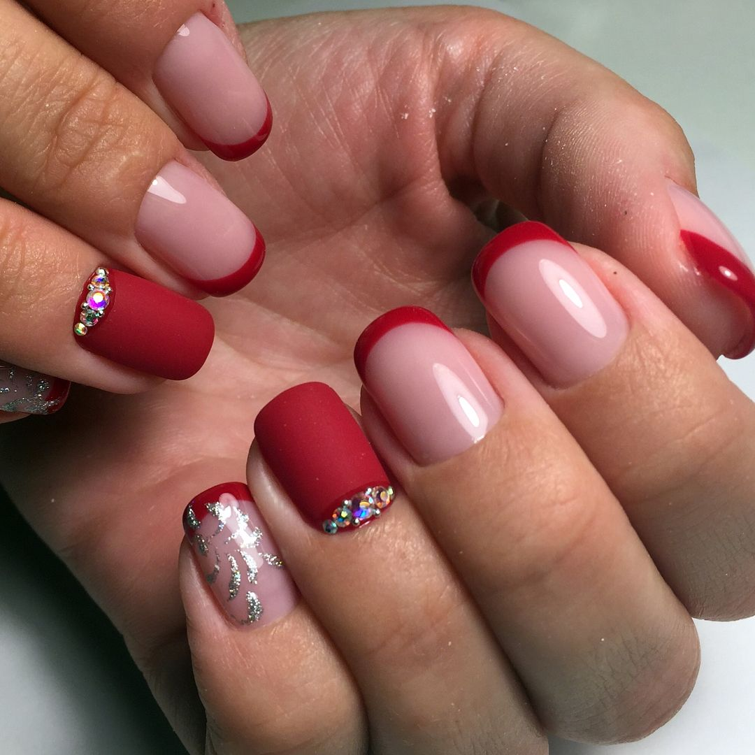 мастер наращивание ногтей красный френч фото новинки карнавалу загляните