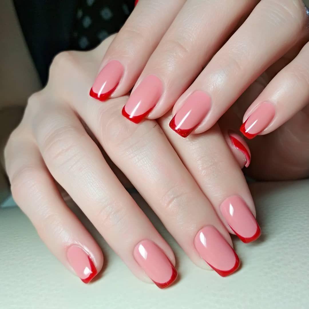фото и картинки ногтей с красным френчем фото тяжело учиться