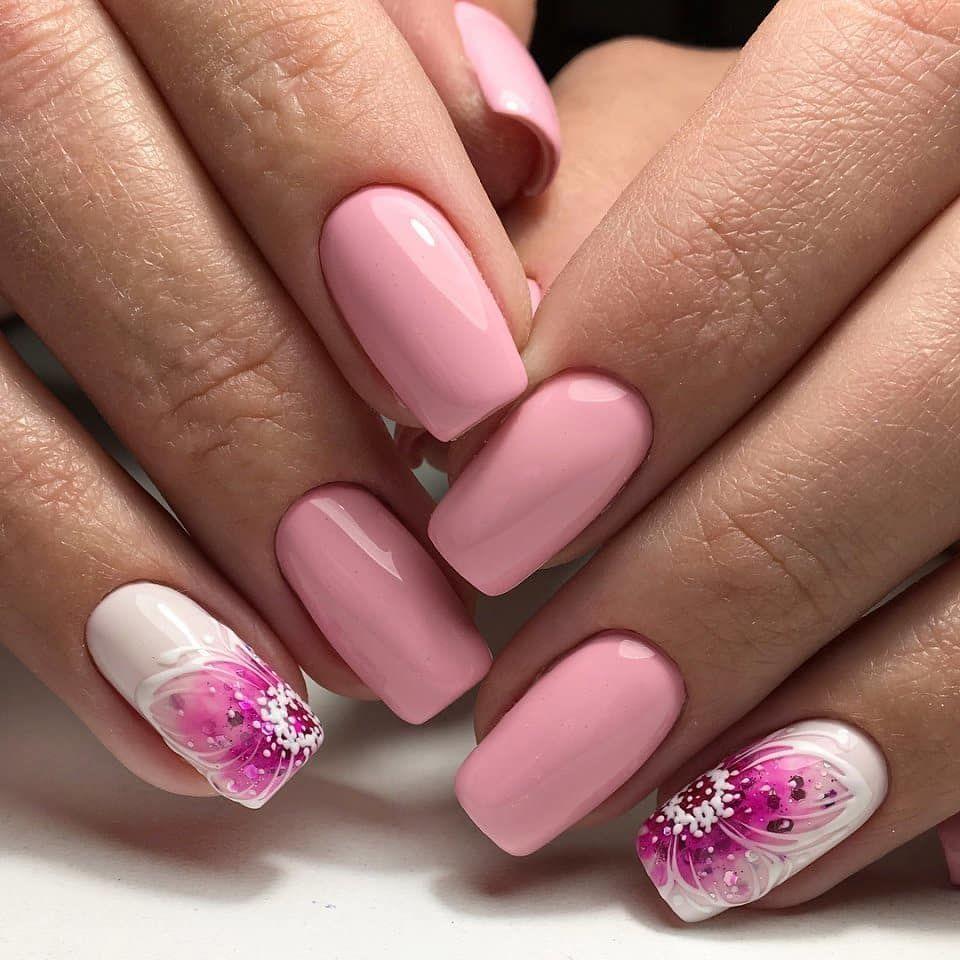 Дизайн ногтей розовый фото новинки красивый