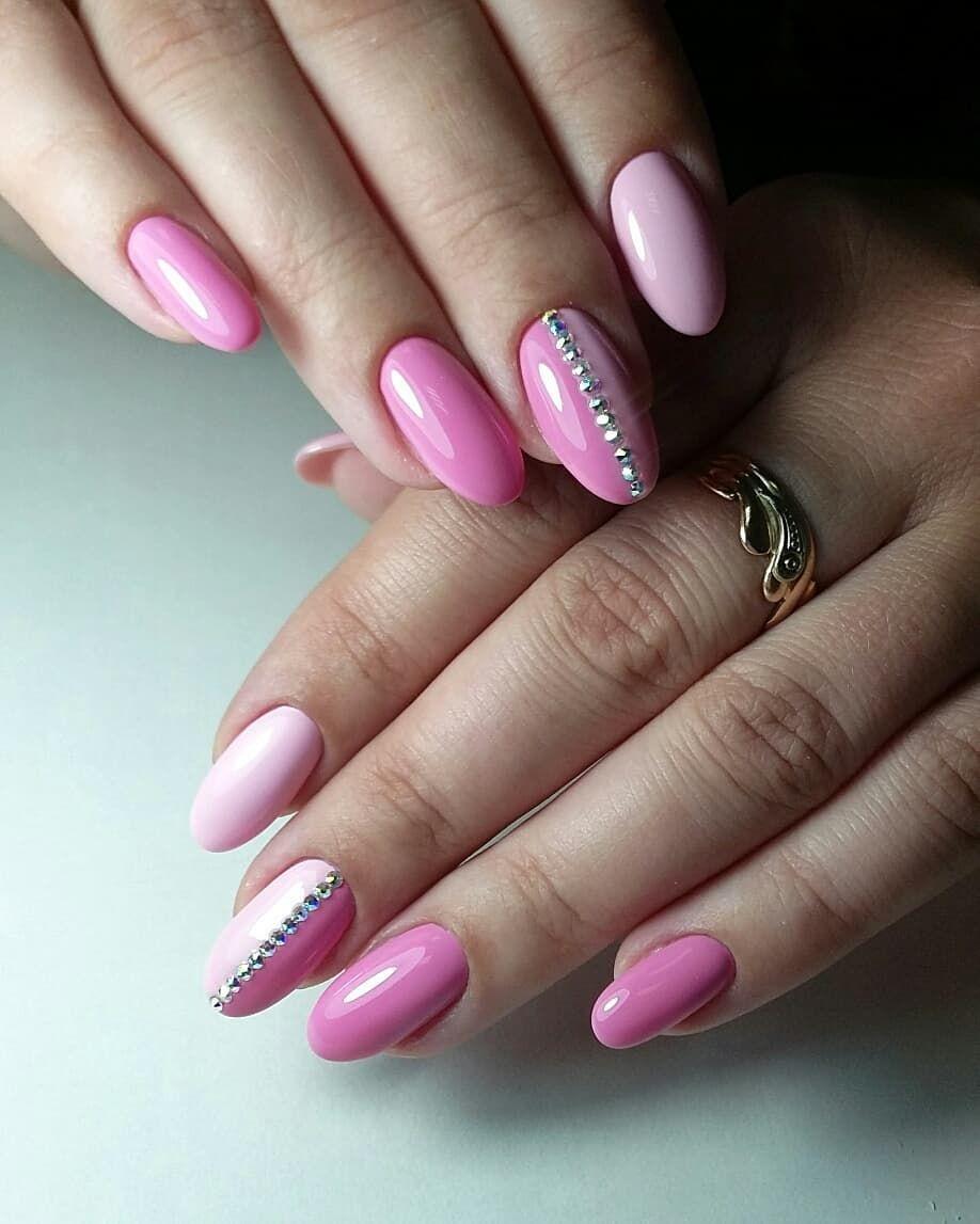 фото ногтей розовые с картинками только помогала