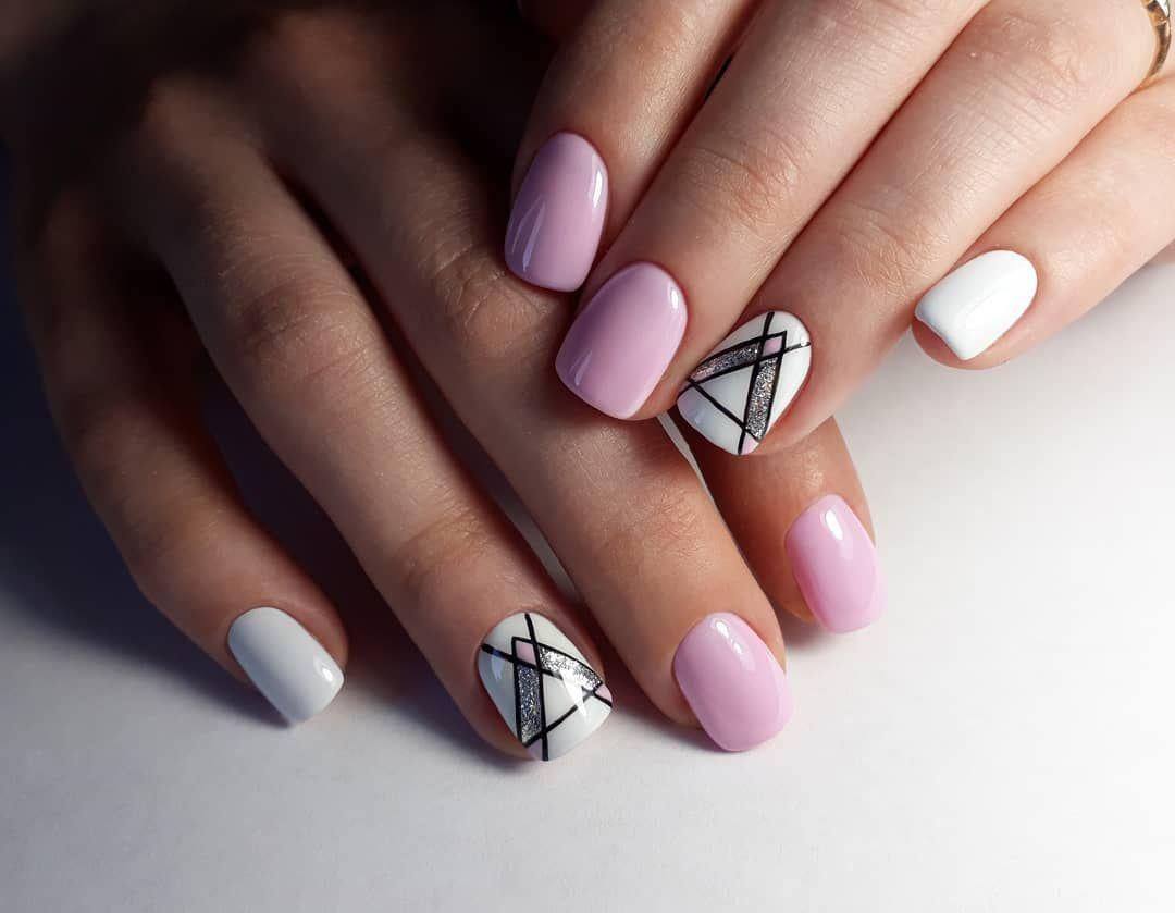 гофрированной геометрический дизайн ногтей фото настоящее время они