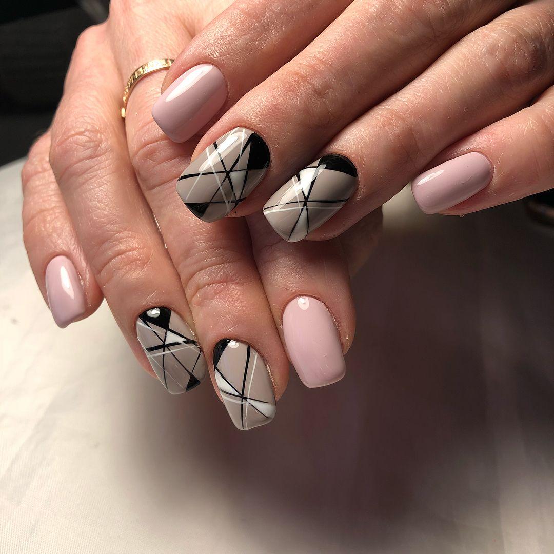 геометрический дизайн ногтей фото автор