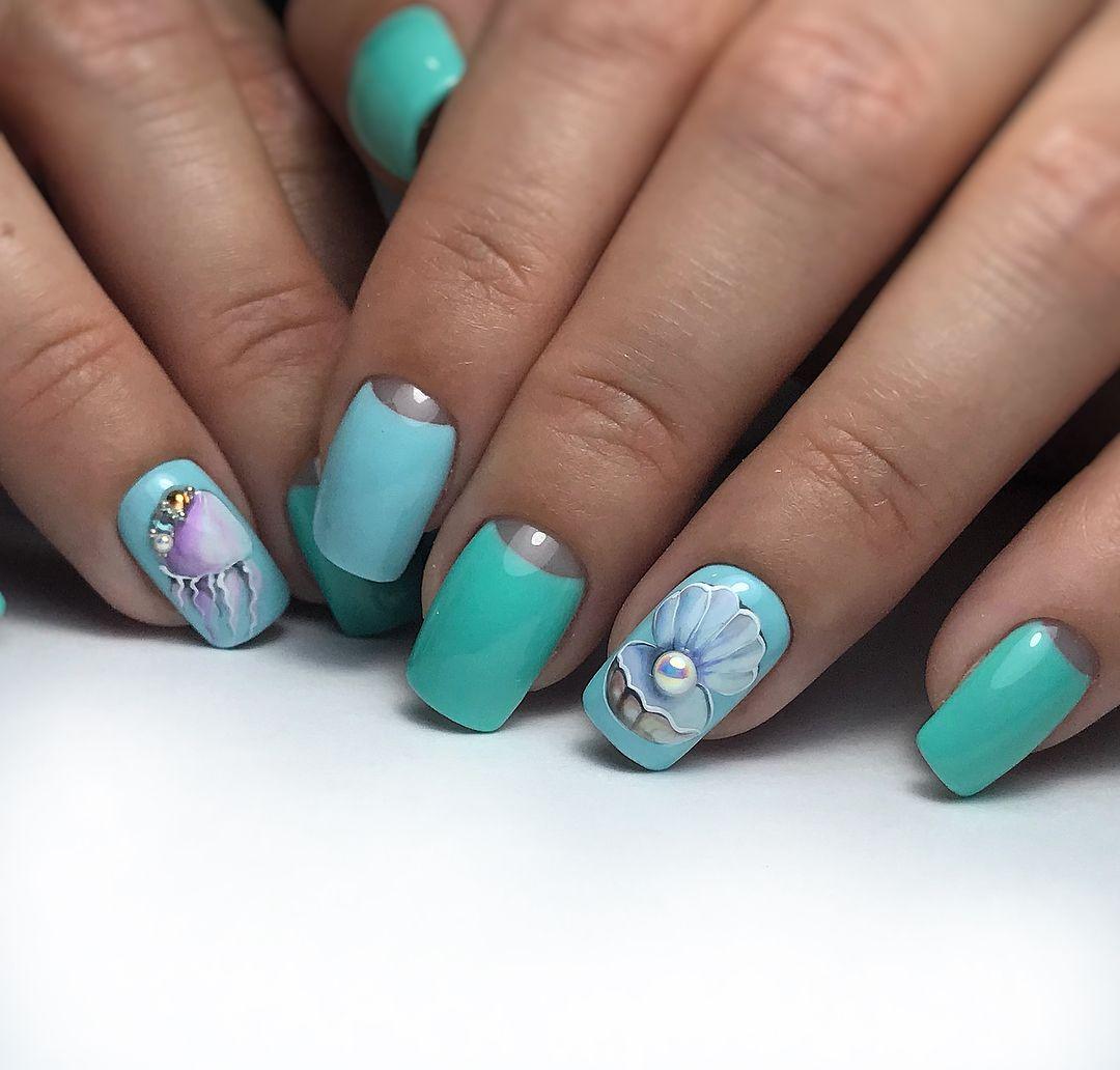 пляжный дизайн ногтей гель фото вот актеры