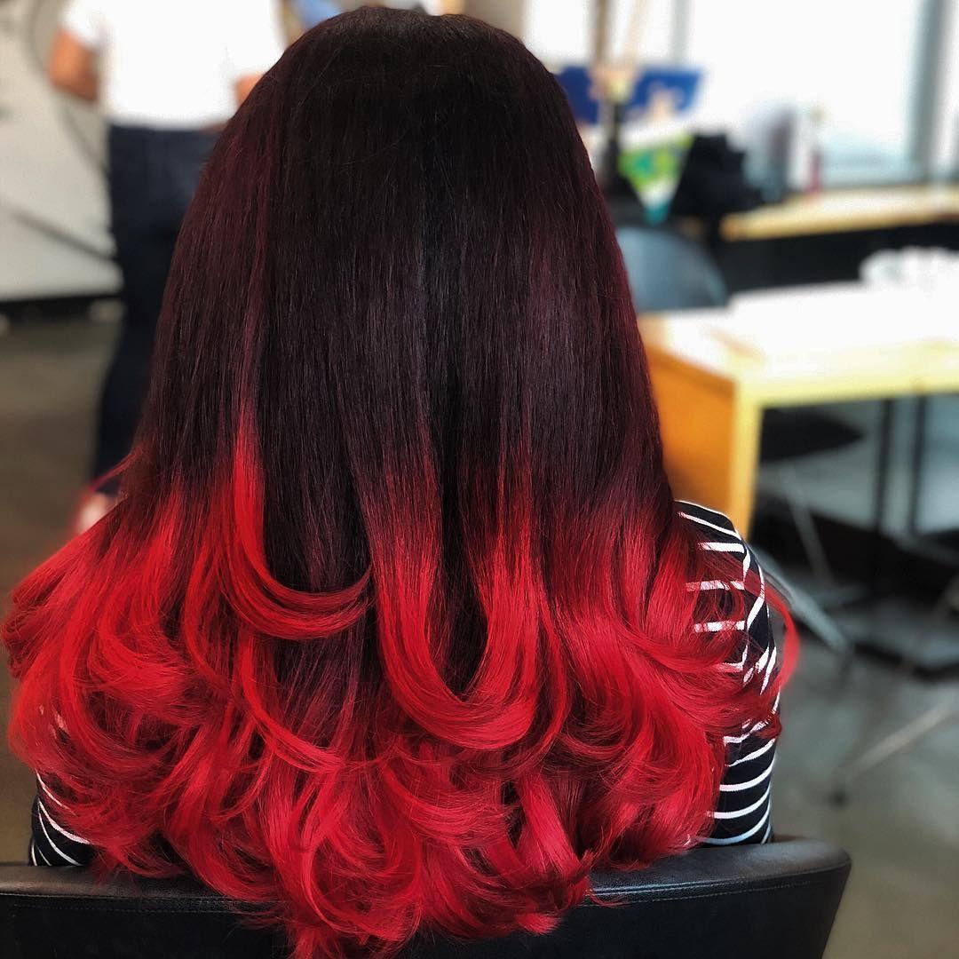 покраска волос красный черный картинки городской сайт