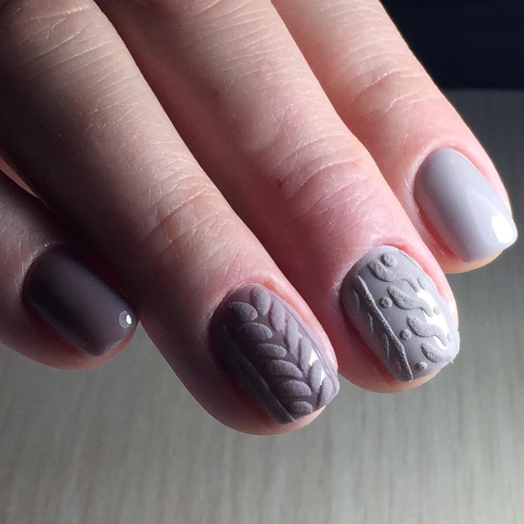 Вязаный дизайн на ногтях пошагово фото