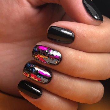 Ногти Разными Лаками Фото