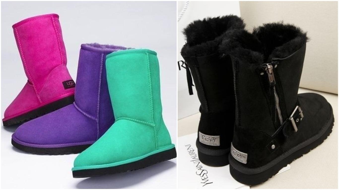 Модные зимние женские угги  с чем носить зимой, фото, мода зима 2019 ... 3efeb68f6f5