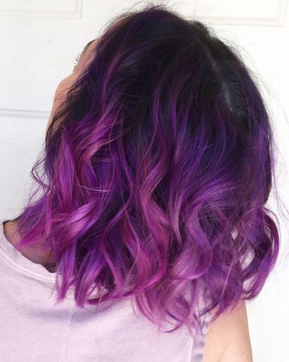 удобство функциональность фиолетовые волосы фото на концах вам
