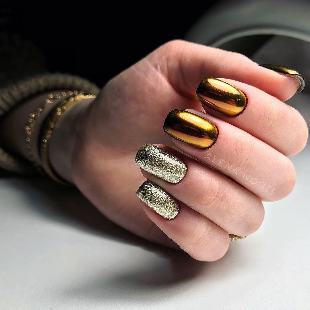 самих колонок, дизайн ногтей втирка зеркальной пыли фото золотой добавил