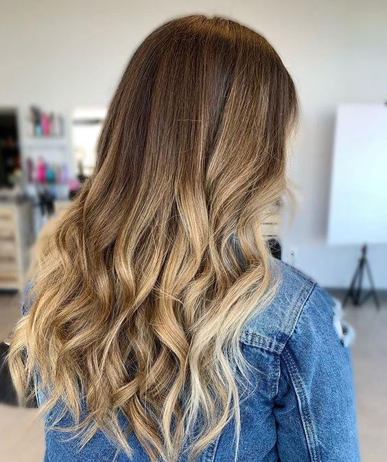 Картинки омбре на русые волосы