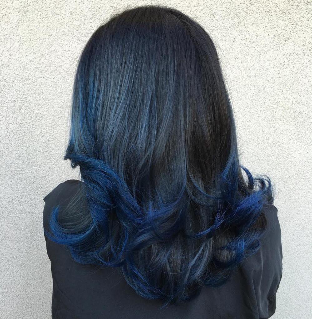 понедельник синий серый омбре на концах волос картинки лесных