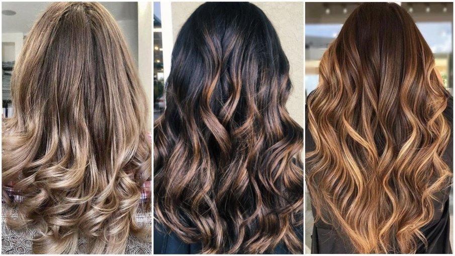 На картинке способ окрашивания волос в балаяж