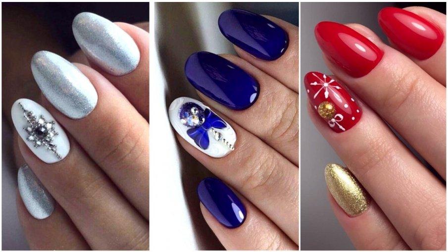Новогодний маникюр 2021: красивые ногти, лучшие фото-идеи дизайна. Тренды новогоднего маникюра.
